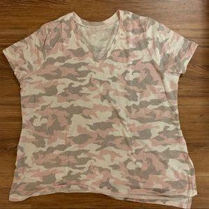 Lane Bryant Tops - Lane Bryant   Pink Camouflage Tee   Size 14/16